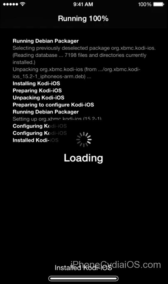 Cydia installs Kodi on iOS 9 - 2