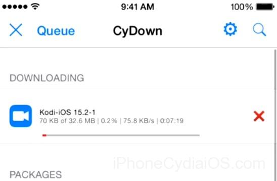 Cydia installs Kodi on iOS 9