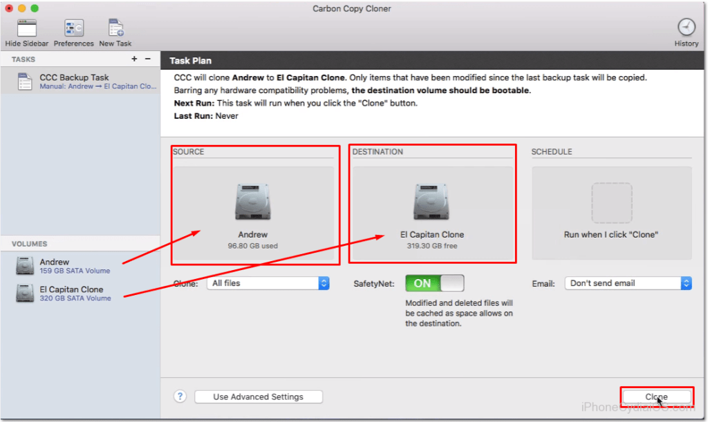 Clone Mac OS X to new HDD or SSD Upgrade - 5