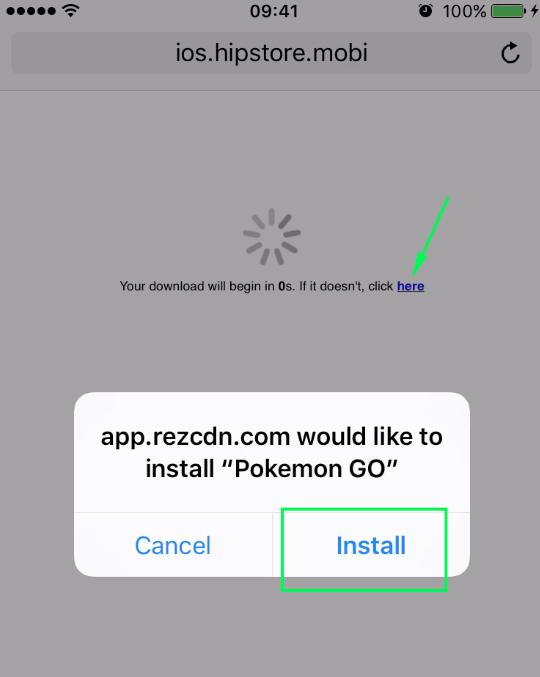 install pokemon go ios 9 - rezcdn allow