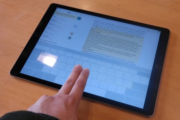 iPad Tips and Tricks - Transform the On-Screen Keyboard as a Touch Pad