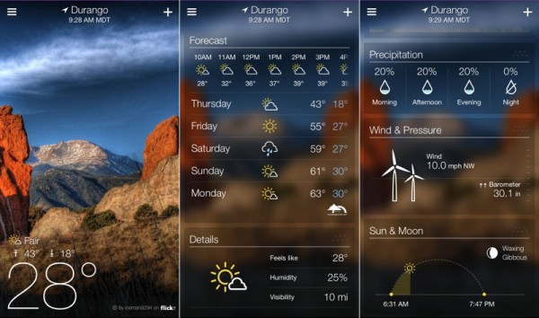 9. Yahoo Weather
