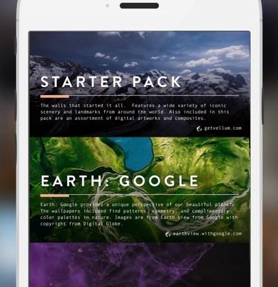 1. Vellum – The Best iPhone HD Wallpaper App in 2019