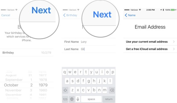 6. Now, you have to either get a new iCloud email address or choose your current email address