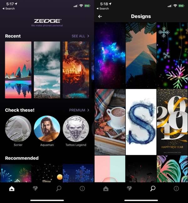 5. Zedge – A Versatile App Offering the Best iPhone Wallpapers