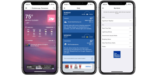 1. The Weather Channel – The Top Rated Weather App for iPhone Right Now