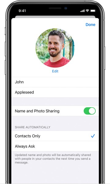 14. Set and Share Your Custom Name and Photo on Messages App