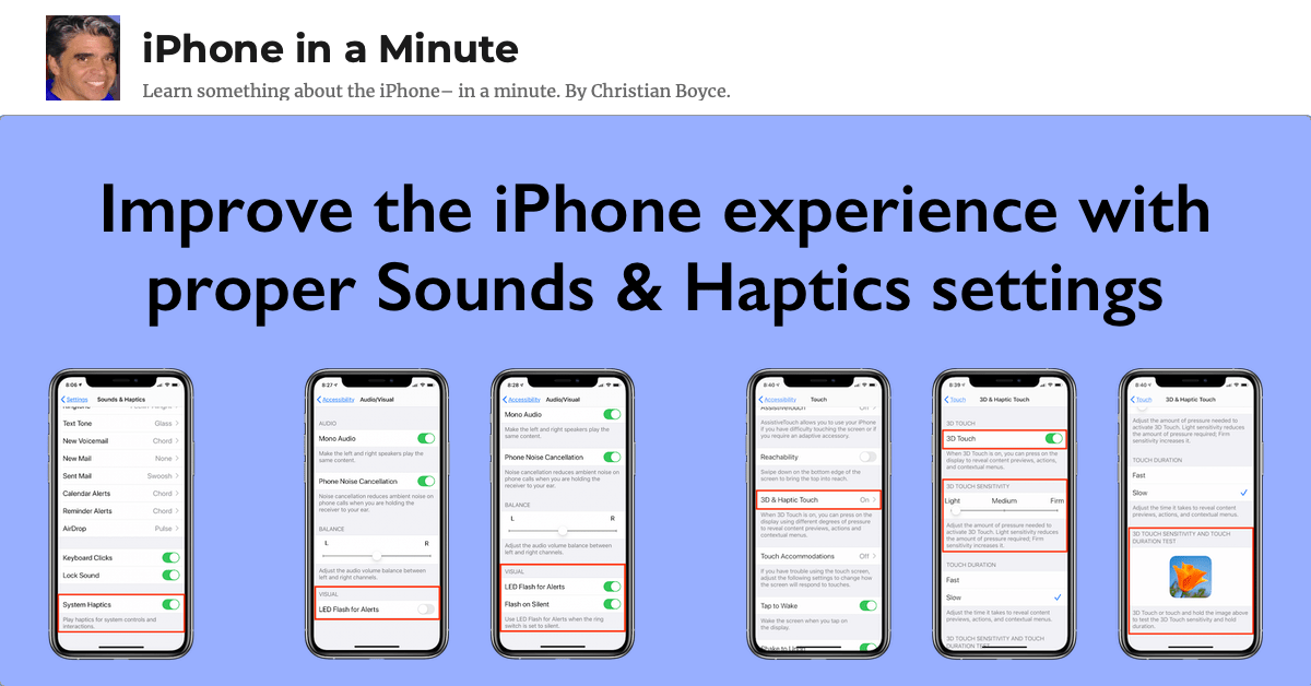 Improve the iPhone experience with proper Sounds & Haptics settings
