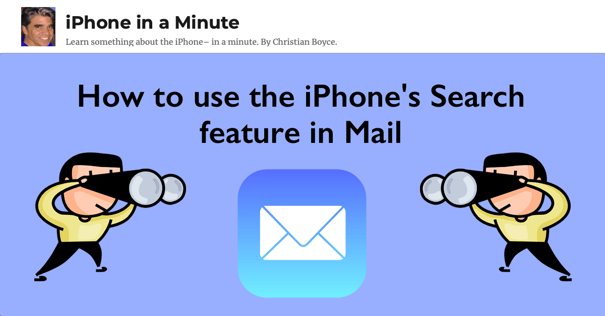 How to use the iPhone's Mail Search feature