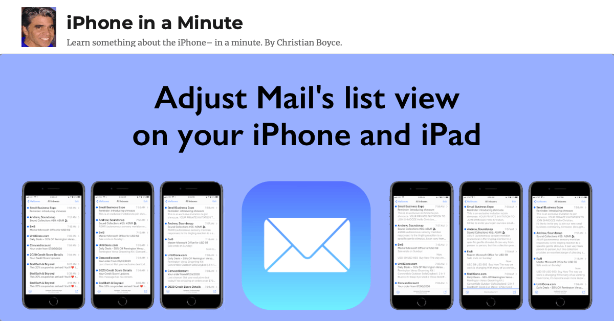 Adjust Mail's list view on your iPhone and iPad