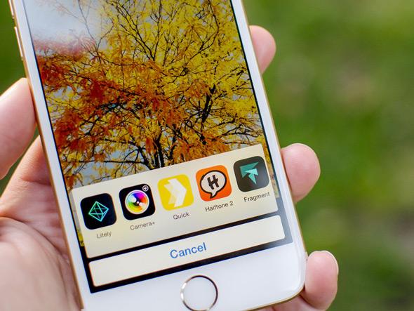 ميزة إضافات تعديل الصور في iOS 8
