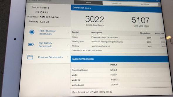 iPad Pro Benchmark
