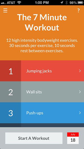 7 minutes workout