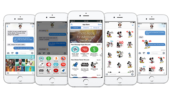 تطبيقات لبرنامج آي ماسج iOS 10