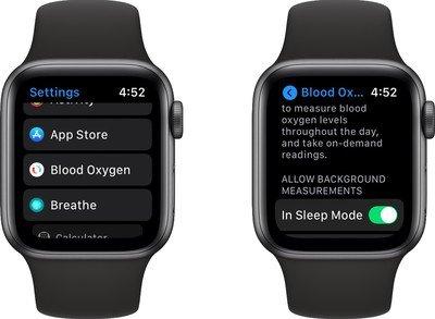 كيفية استخدام مراقبة الأكسجين في الدم على ساعة أبل 6