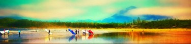 Tofino Surfers Sunset by Michael