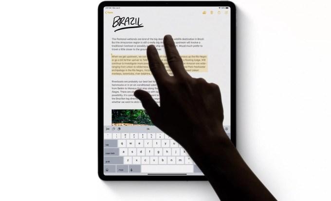 Новые жесты в iPadOS