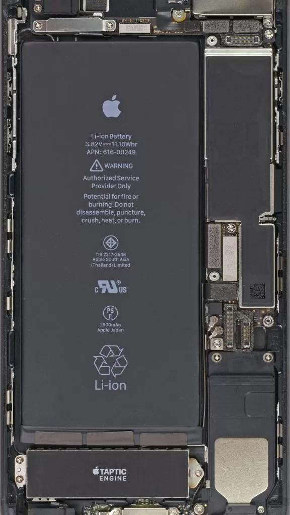 Внутренности iPhone 7 Plus
