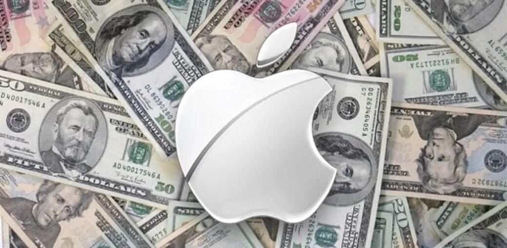 Логотип Apple и деньги