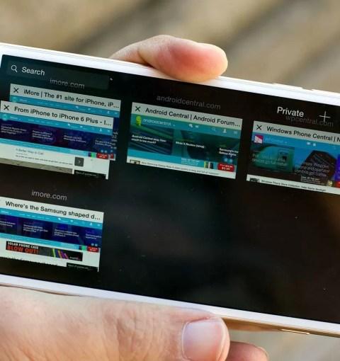 Safari со вкладками на iPhone