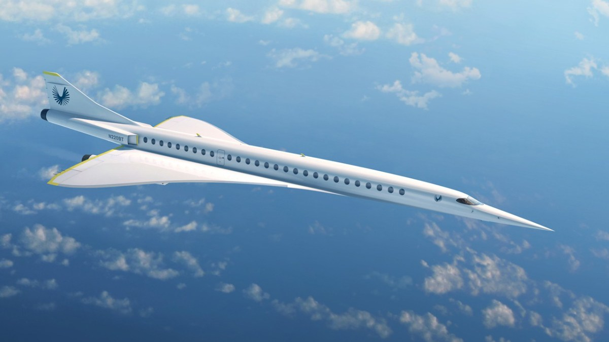 Concept image of Boom supersonic airliner
