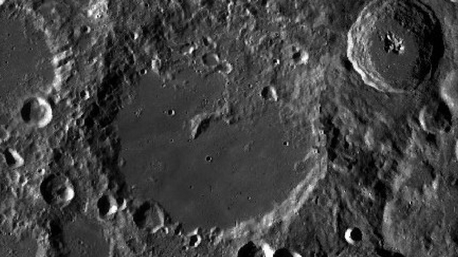 Image of the moon's Von Karman Crater