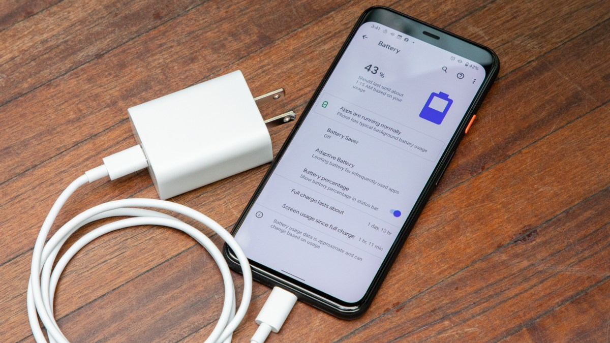 Google Pixel 4 battery life and charger