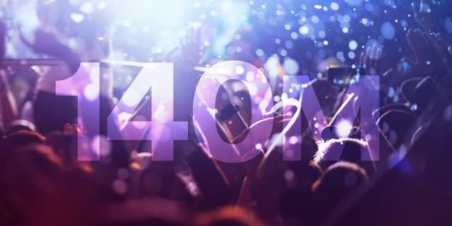 140 Millones de usuarios en Spotify