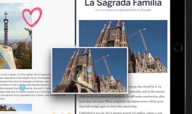 Arrastrando y soltando una foto de la Sagrada Familia