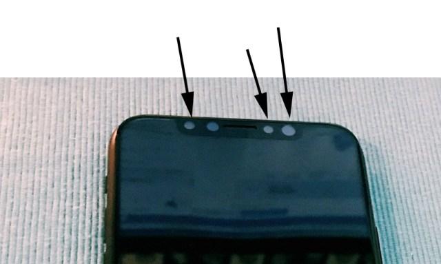 Sensores frontales del presunto <stro data-recalc-dims=
