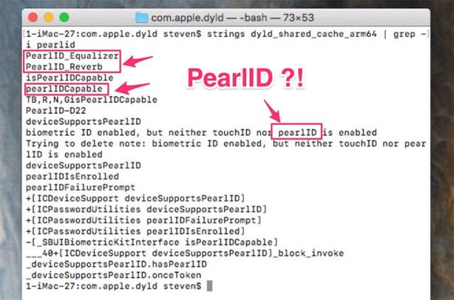 Referencias a PearlID en el firmware del HomePod