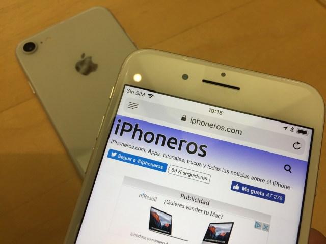 iPhone 8 y 8 Plus con iPhoneros cargado