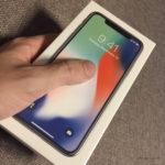 iPhone X en su caja