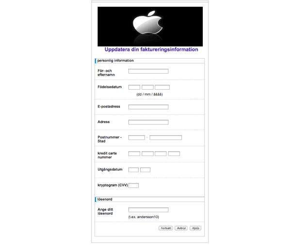 Apple phishing fake2