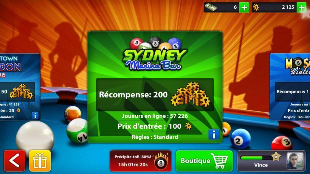 8 ball pool un jeu de billard en ligne sur ios nouvelles technologies. Black Bedroom Furniture Sets. Home Design Ideas