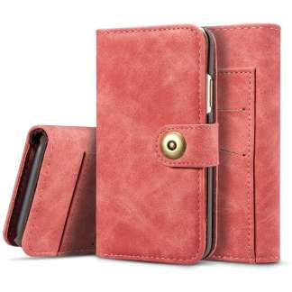 Just in Case iPhone X 2 in 1 Wallet Case (Red)