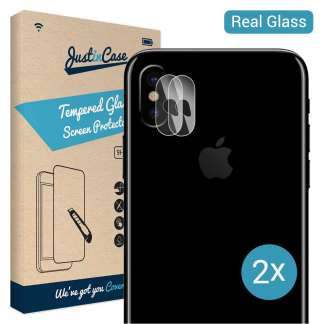 Just in Case Tempered Glass iPhone X Camera Lens - 2 Pcs