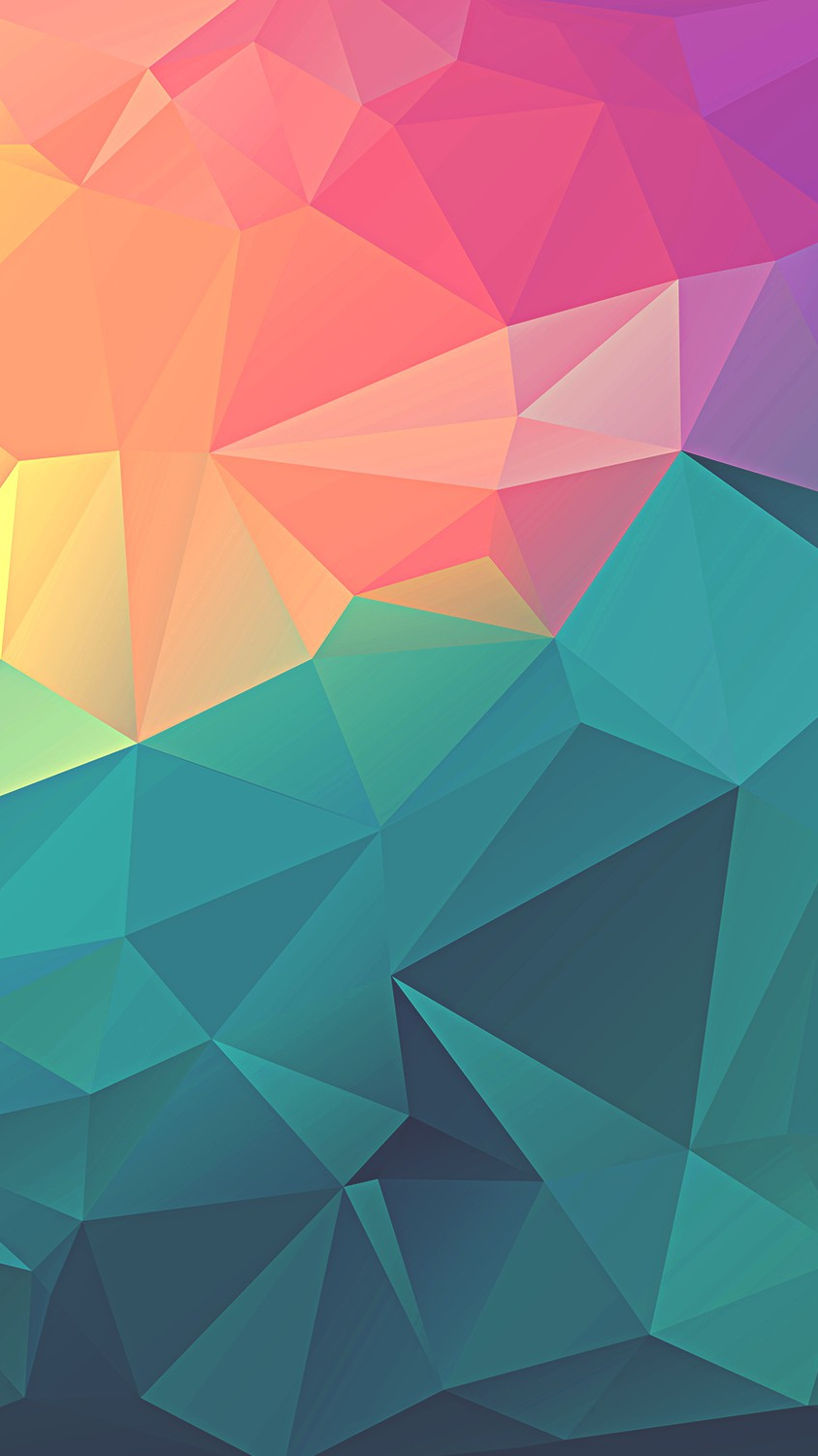 Colorful Polygon Geometric Art IPhone Wallpaper IPhone