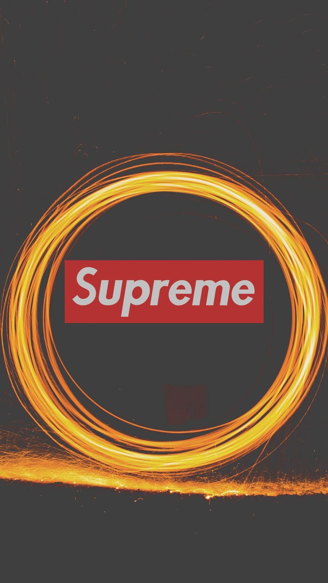 Supreme Logo Fireworks IPhone Wallpaper IPhone Wallpapers