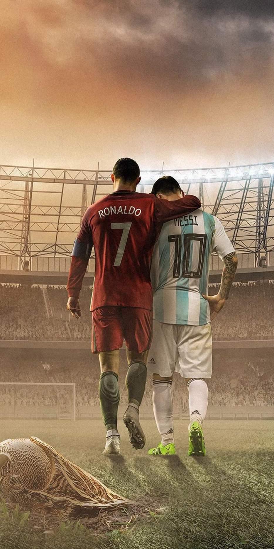 Messi And Ronaldo Football Iphone Wallpaper Iphone