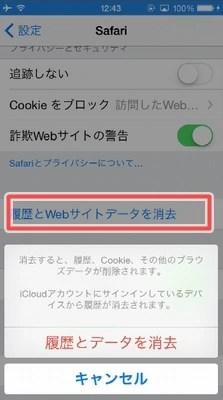 iPhoneのクッキーの意味って?クッキーの消し方!05
