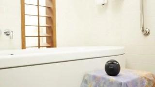 iPhoneに入れた音楽をお風呂でスピーカーを使って聞きたい!!