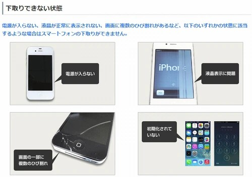 SoftBankの下取り条件