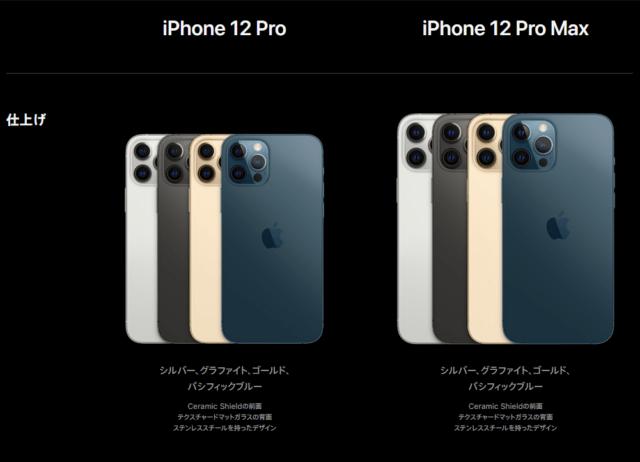 iPhone12 Pro/Pro Maxのデザイン