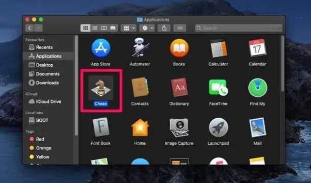 Использование сочетания клавиш Get Info на Mac