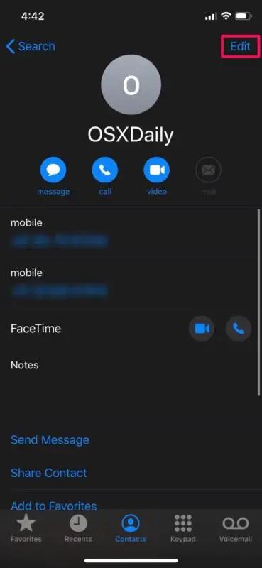 Как отключить звук контакта на iPhone, чтобы отключить от него звонки, сообщения и уведомления