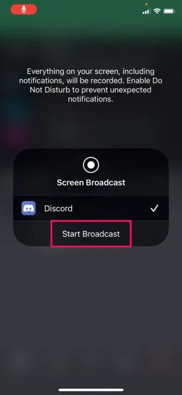 Как использовать общий доступ к экрану с Discord на iPhone и iPad