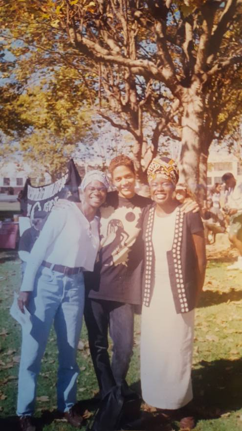 Angela, Tracye and Robyn at the BPP 30th Anniversary Reunion (Oakland, CA, 1996)