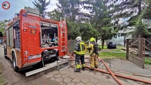 Pożar dachu przy Idzikowskiego