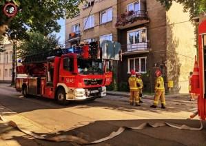 OSP Piastów pomagała gasić pożar w Pruszkowie